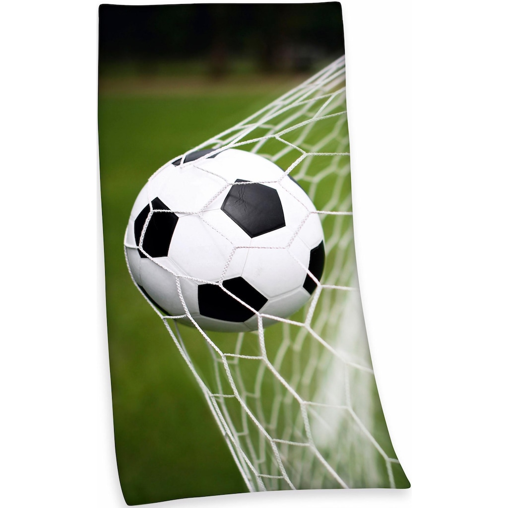 Herding Badetuch »Fußball«, (1 St.), mit Fußballmotiv