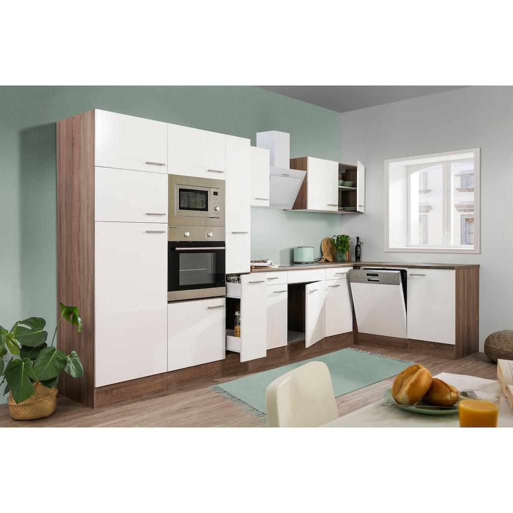 RESPEKTA Winkelküche »York«, mit E-Geräten, Breite 370 x 172 cm