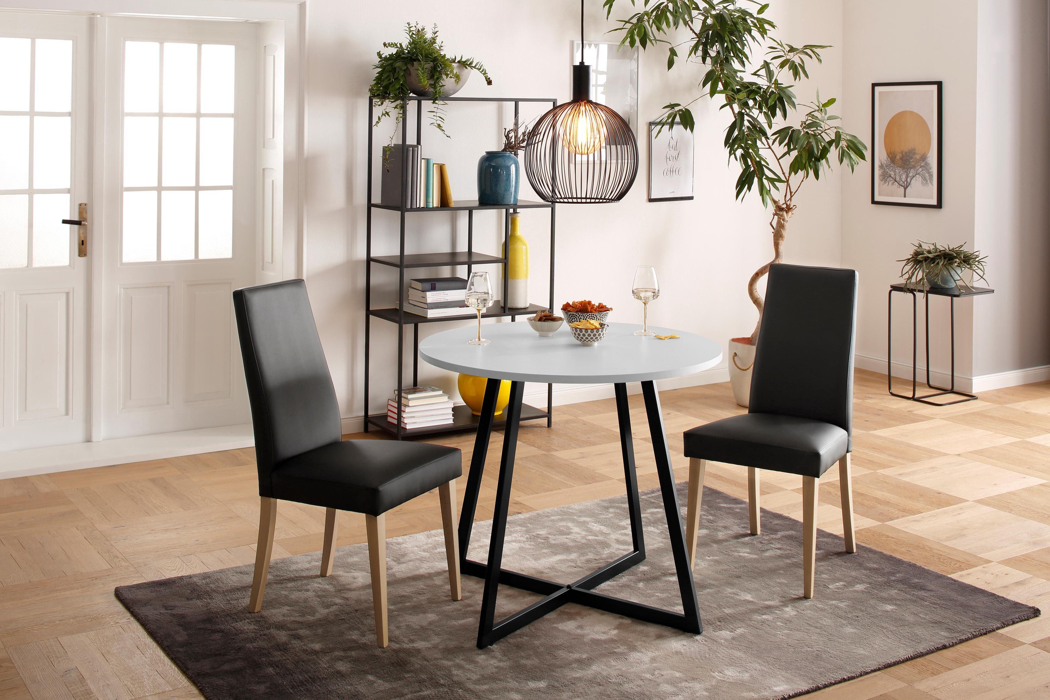 my home Esstisch Dinise, in runder Ausführung weiß Esstische rund oval Tische