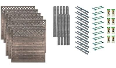 T&J Dichtzaun »Boston 6«, 8 Elemente, LxH: 1521x180 cm kaufen