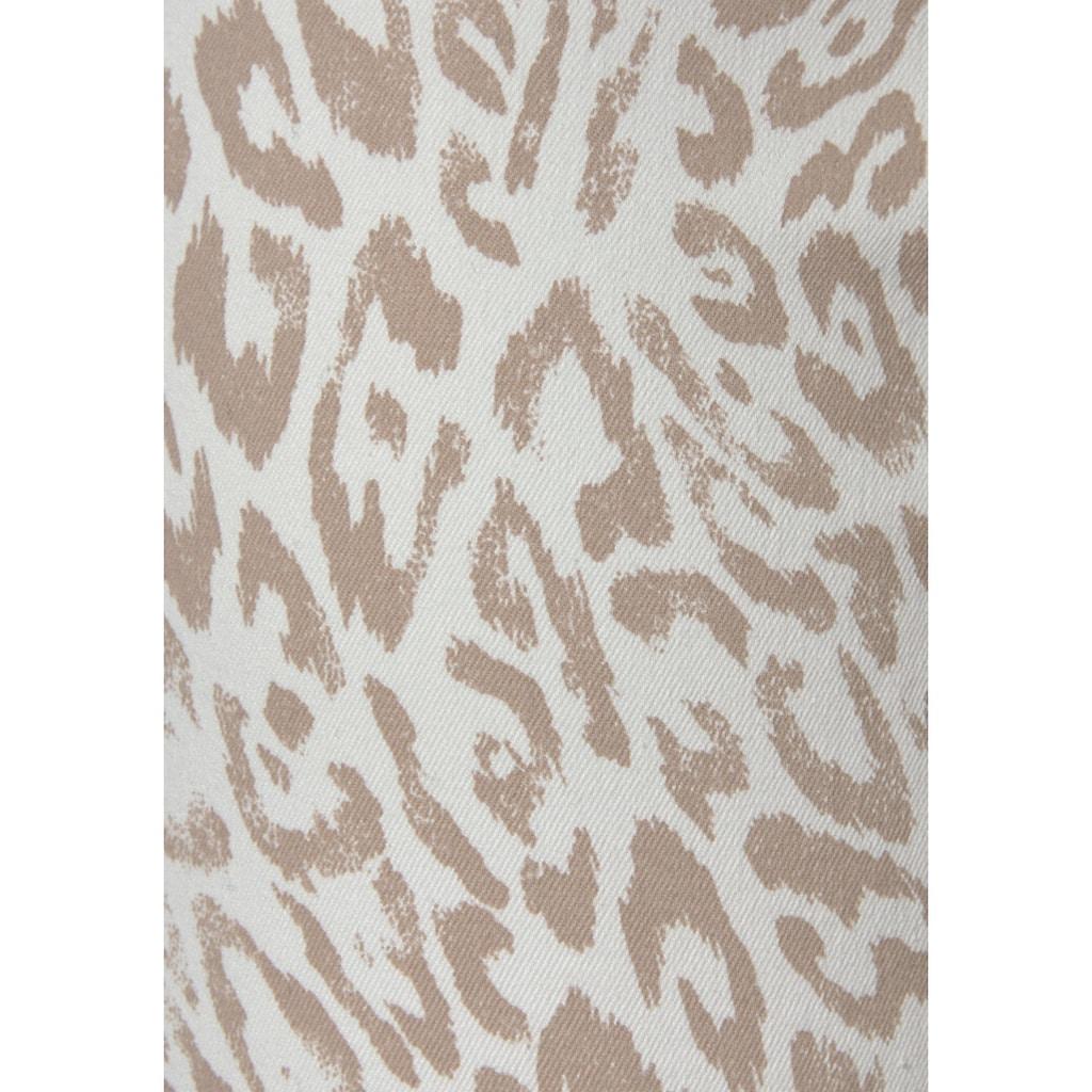 LASCANA 7/8-Jeggings, mit Leopardenprint