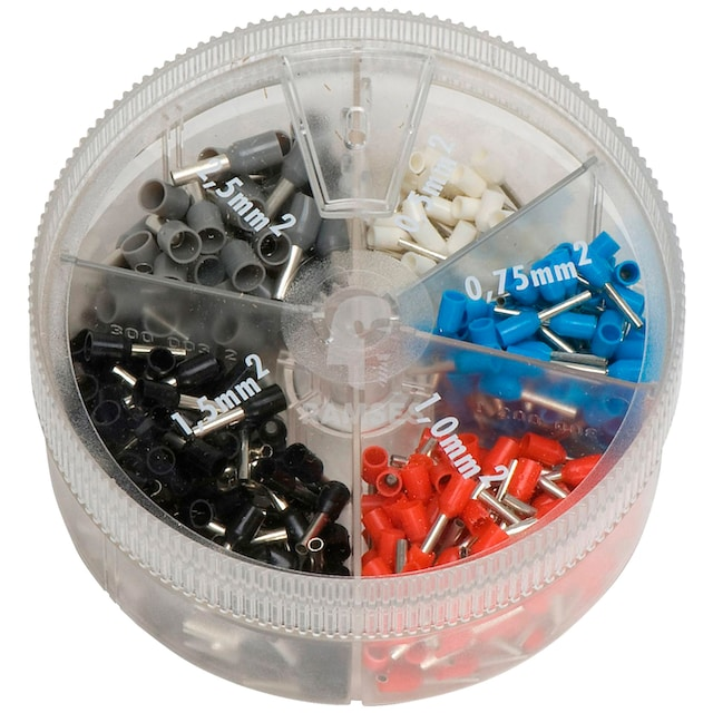 RAMSES Aderendhülsen , mit Kunststoffkragen Streudose 0,5 - 2,5 mm²
