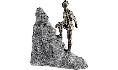 Casablanca by Gilde Dekofigur »Skulptur Wanderer, bronzefarben/grau«, Dekoobjekt, Höhe... kaufen