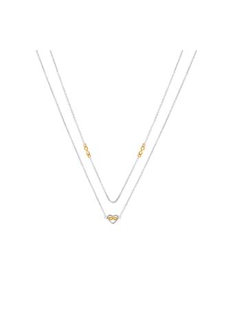 Zeeme Collier »925/- Sterling Silber rhodiniert 2-farbig« kaufen