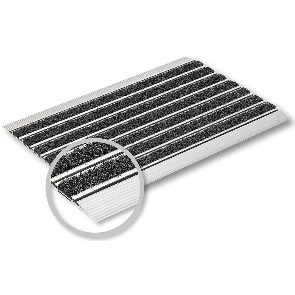 ASTRA Fußmatte »Scraper«, rechteckig, 10 mm Höhe, Schmutzfangmatte, mit Aluminiumrahmen