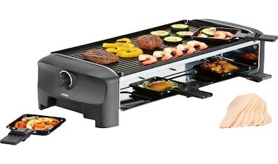 PRINCESS Raclette 8 Grill & Teppanyaki Party  -  162840, 8 Raclettepfännchen, 1300 Watt kaufen