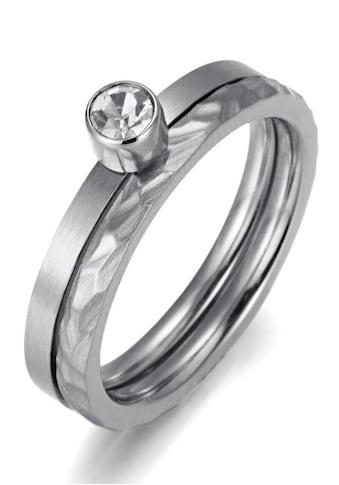 Firetti Ring - Set »zus. 4,0 mm, matt -  und glanzoptik, strukturiert, stilvoll« (Set, 2 tlg.) kaufen