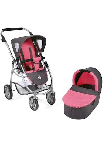 CHIC2000 Kombi-Puppenwagen »Emotion All In 2in1, Anthrazit-Pink«, inkl. Babywanne und... kaufen