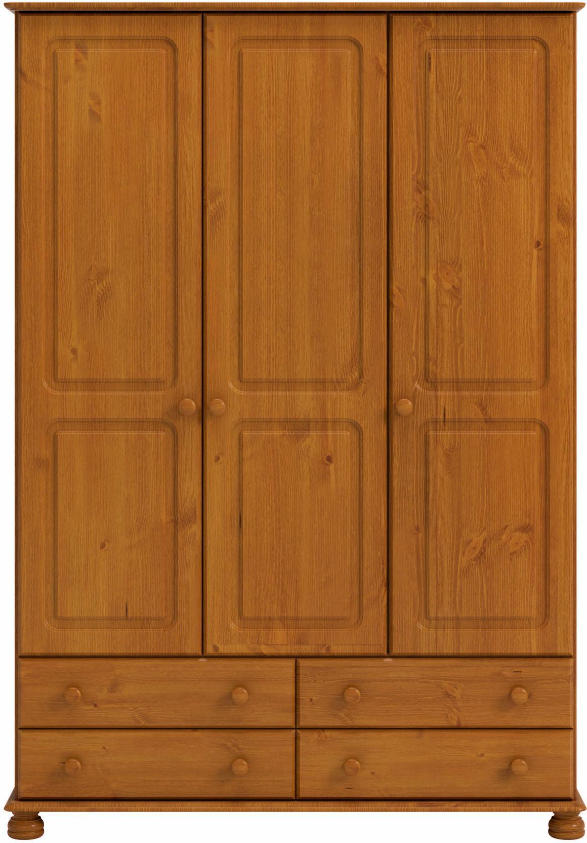 Home affaire Kleiderschrank Richmond mit 3 Türen und 4 Schubladen Breite 129 cm