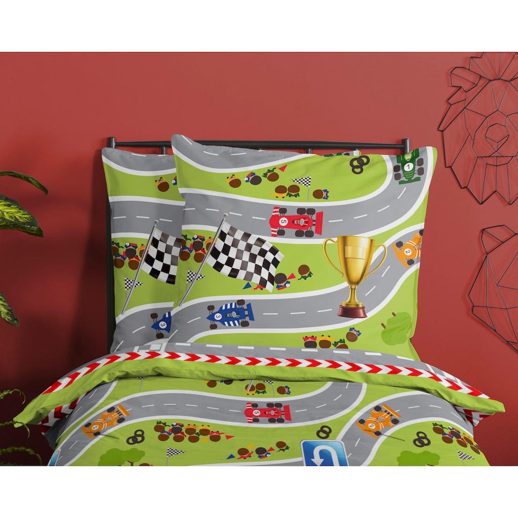 good morning Kinderbettwäsche »Circuit«, mit Rennstrecke
