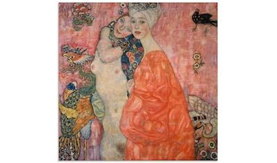 Artland Glasbild »Die Freundinnen. 1916/17«, Frau, (1 St.) kaufen