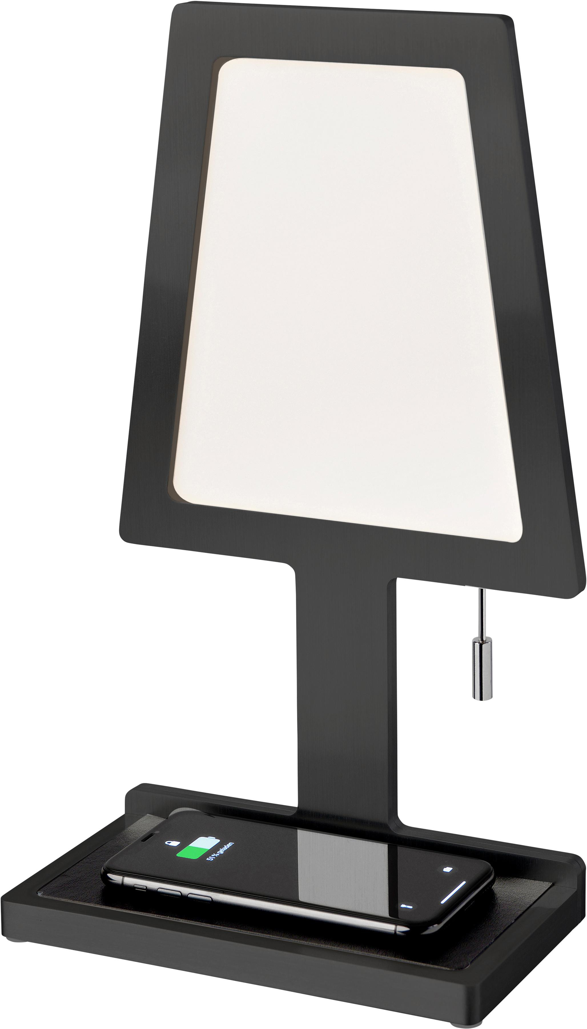 SOMPEX LED Tischleuchte Steve-Phone, LED-Board, Warmweiß, mit induktiver Ladefunktion, gemäß QI-Standard