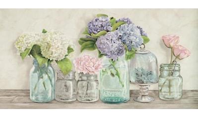 Deco - Panel »JENNY THOMLINSON / Blumen in Gläser« (100/3/50 cm) kaufen
