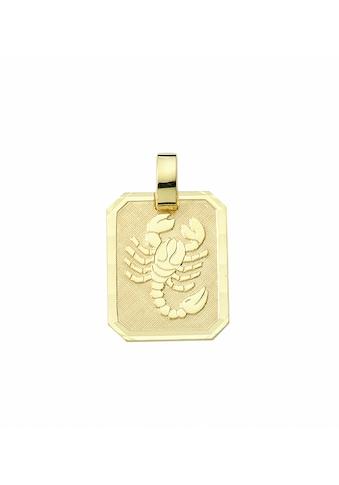 Adelia´s Kette mit Anhänger »333 Gold Sternzeichen Anhänger Skorpion - Set mit... kaufen