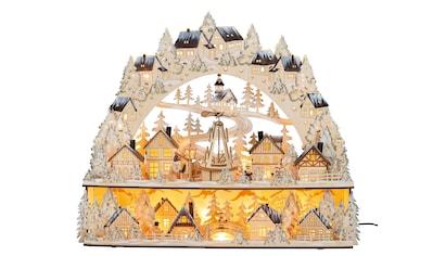 HGD Holz - Glas - Design XL - Lichterbogen Weihnachtsmarkt mit beweglicher Pyramide kaufen