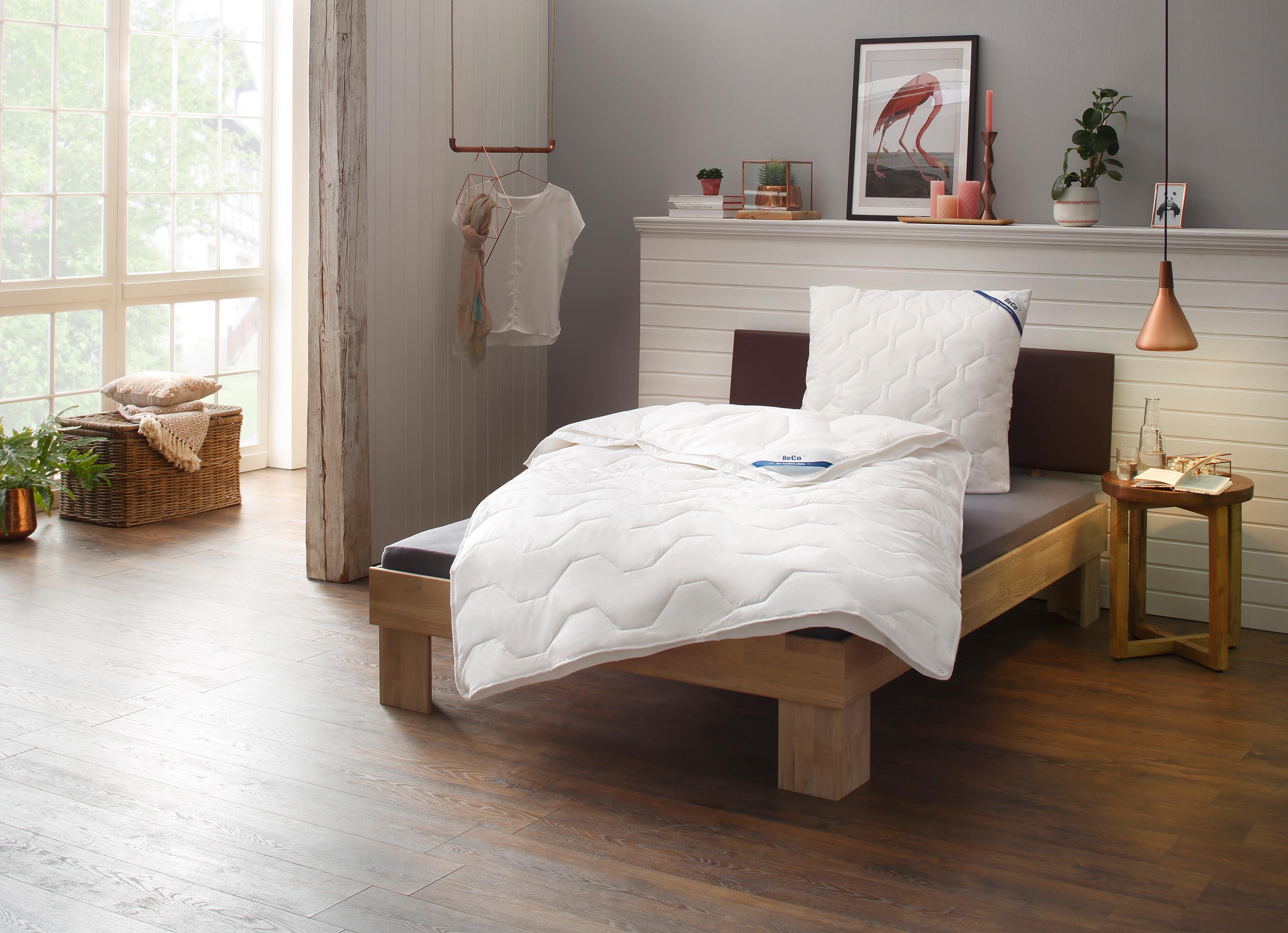 4-Jahreszeitenbett + Kunstfaserkissen, »Tencel Soft«, BeCo, 4-Jahreszeiten, Perfekte Klimatisierung dank Tencel®