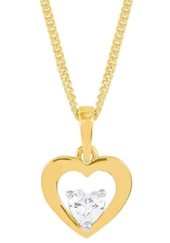 Amor Kette mit Anhänger »Herz, 2014399«, mit Zirkonia kaufen