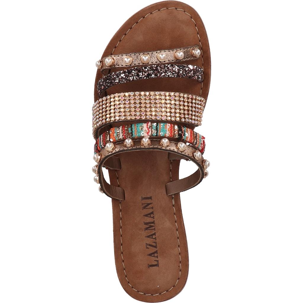 Lazamani Pantolette »Textil«