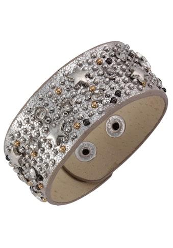 J.Jayz Armband »Stern, Metallic-Look«, mit Glassteinen und Metallnieten kaufen