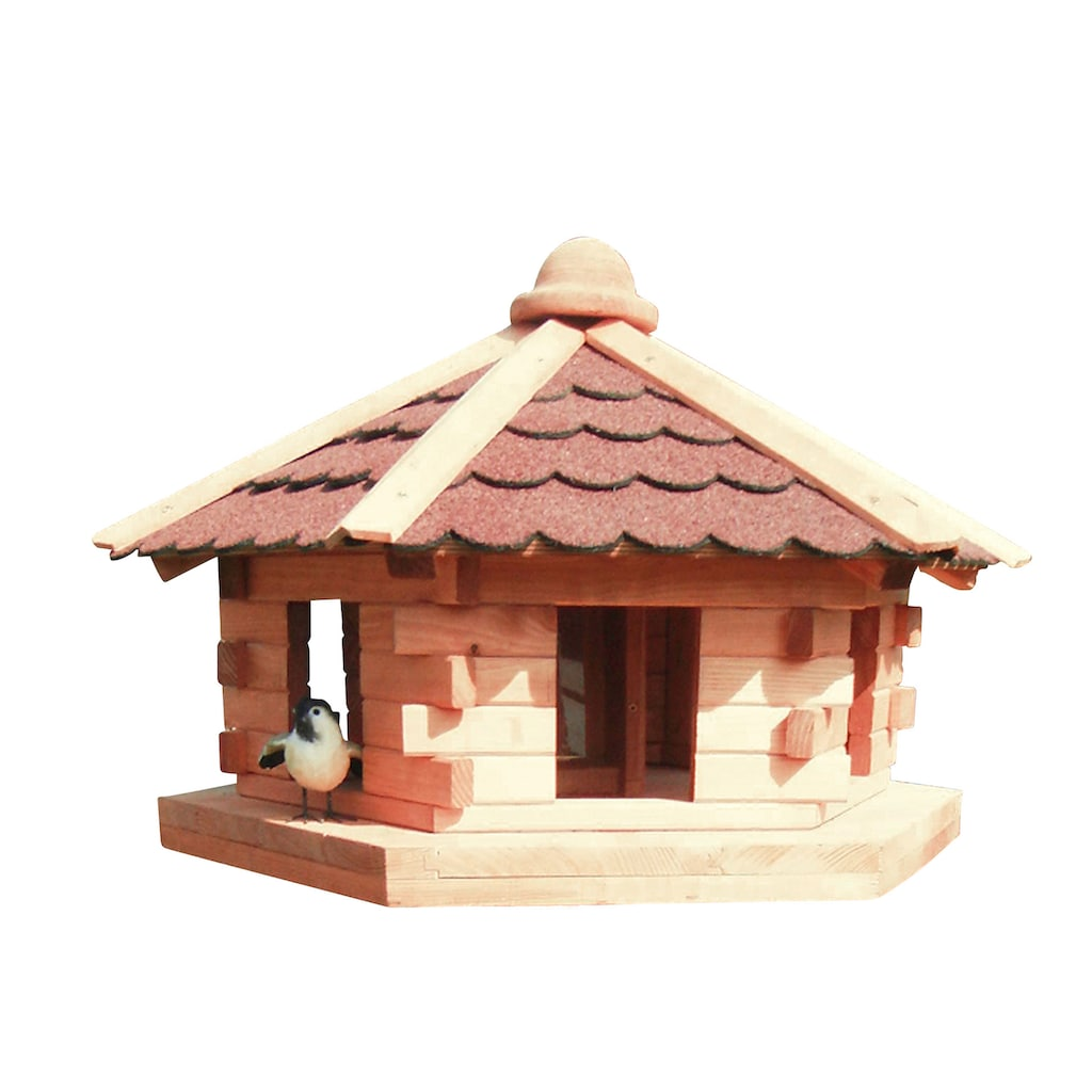promadino Vogelhaus »Knusperhäuschen«, BxTxH: 59x57x143,5 cm, mit Standbein