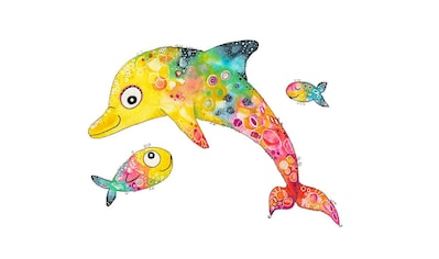Wall-Art Wandtattoo »Lebensfreude - Delfin Fische« kaufen