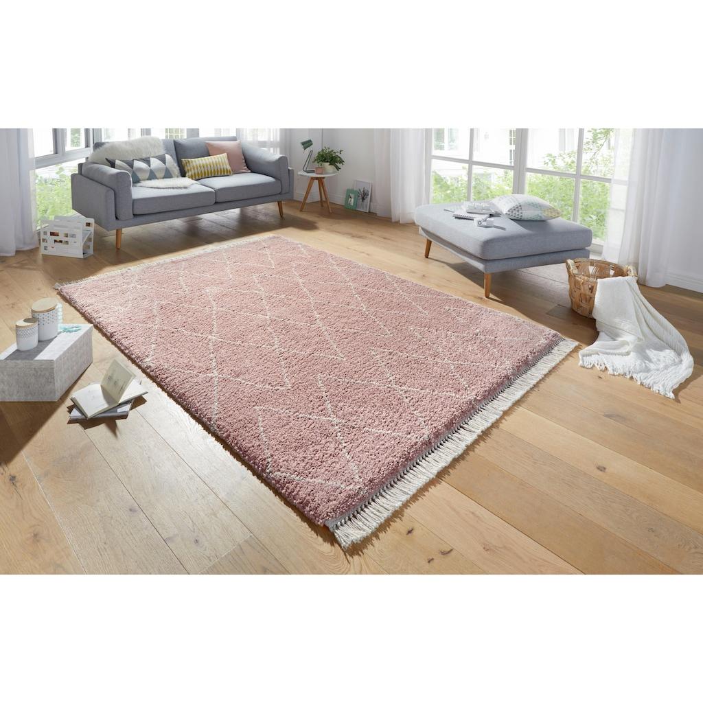 Hochflor-Teppich, »Jade«, MINT RUGS, rechteckig, Höhe 35 mm, maschinell gewebt