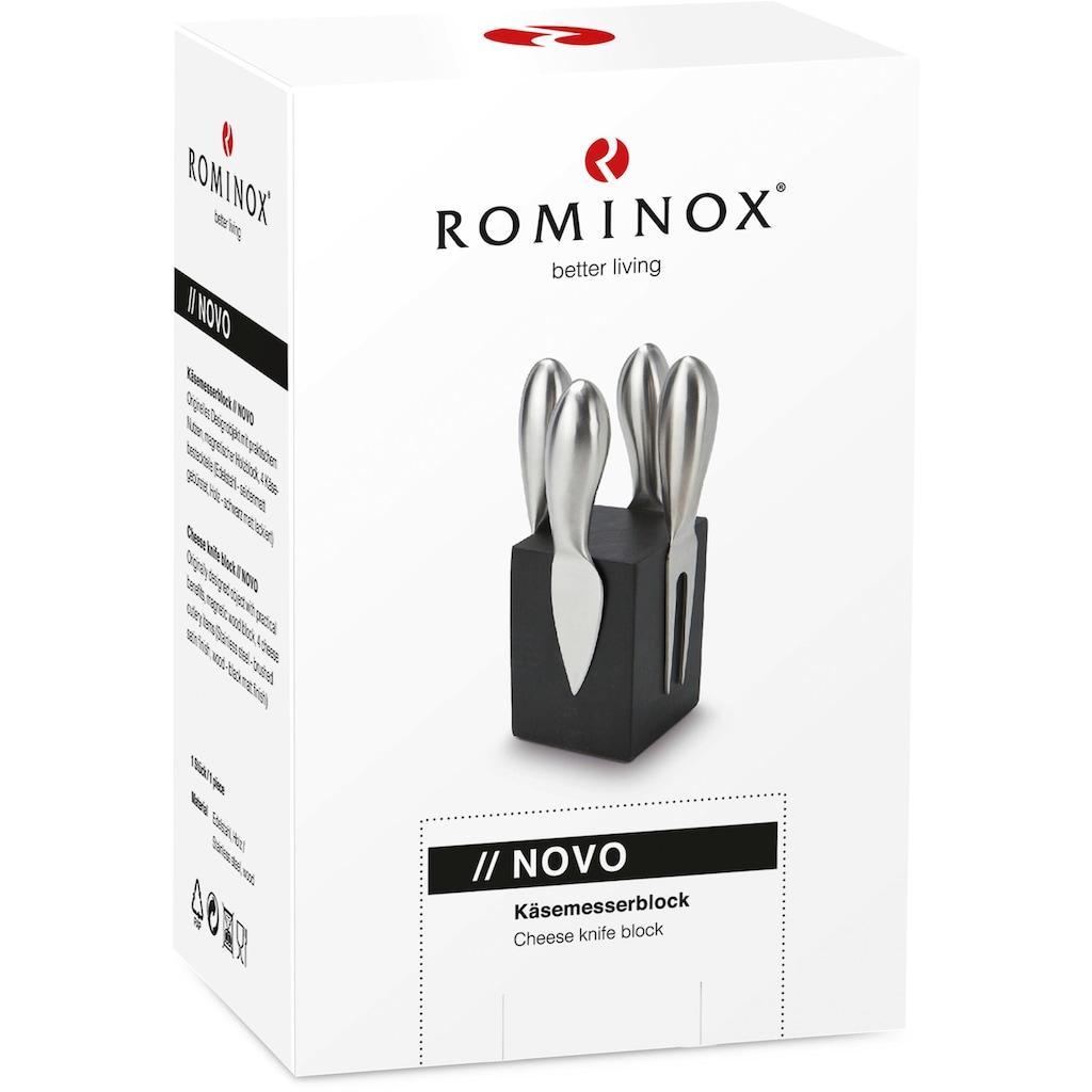 ROMINOX Magnet-Messerblock »Novo«, 5 tlg., mit Käsebesteck