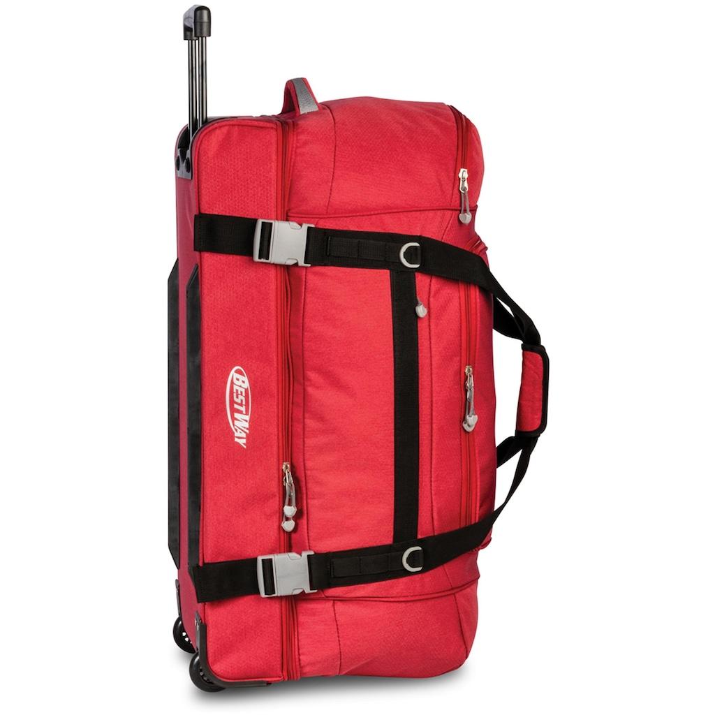 fabrizio® Reisetasche »Bestway Rollenreisetasche XXL, rot«