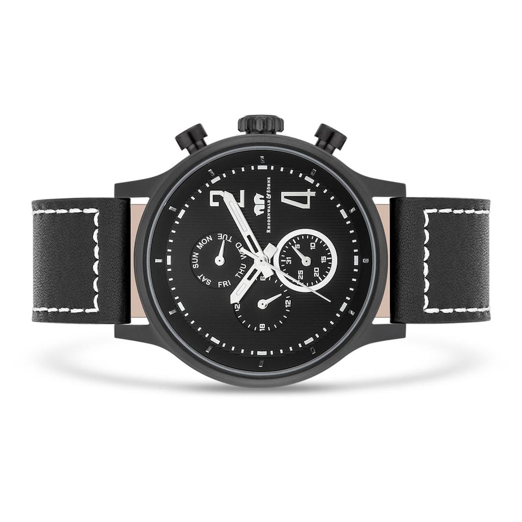 Rhodenwald & Söhne Multifunktionsuhr »RWS014«, (1 tlg.), Armband aus Echtleder