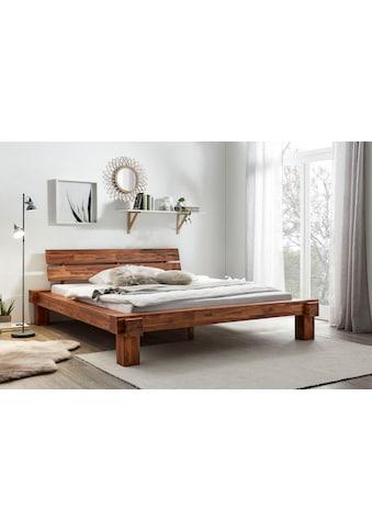 SalesFever Massivholzbett »Eik«, mit Wuchrissen, Astlöchern und charakteristischer Maserung kaufen