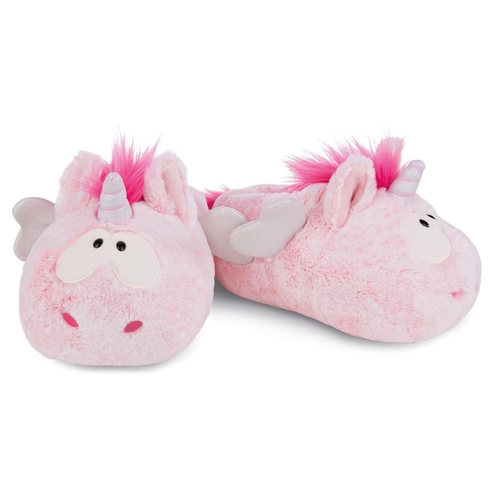 Nici Plüsch Hausschuhe »Pink Harmony«, im süßen Einhorn-Look