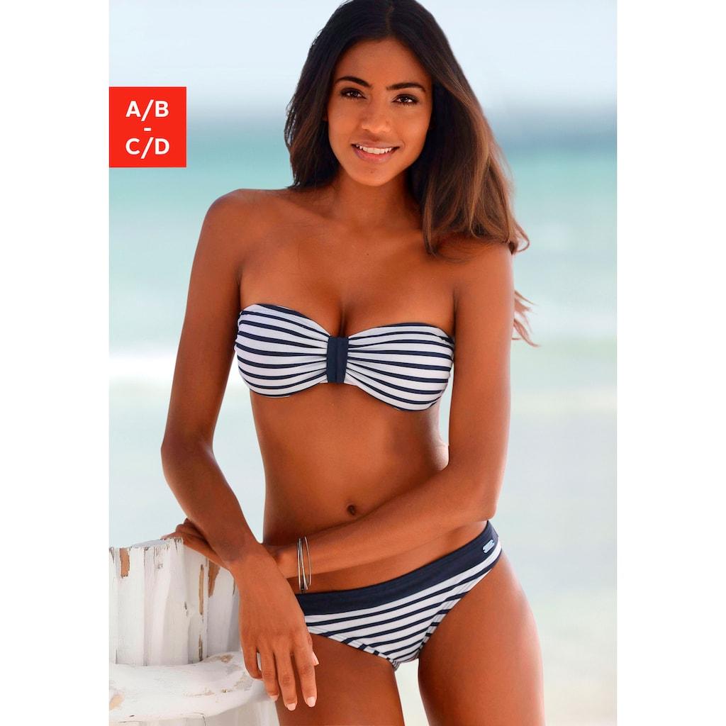 Venice Beach Bandeau-Bikini-Top »Summer«, mit kontrastfarbener Schlaufe