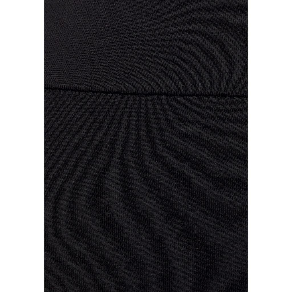 Buffalo Leggings, mit breiten Bund und glitzernden Seitenstreifen