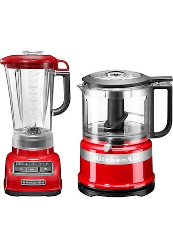 KitchenAid Standmixer »5KSB1585EER und Mini Zerkleinerer 5KFC3516«, 550 W, Vorteilsset: Du sparst gegenüber Einzelkauf 62,90€ kaufen