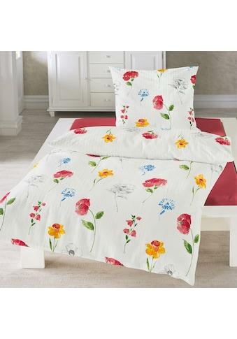 TRAUMSCHLAF Bettwäsche »Sommertraum«, bügelfreie florale Sommerwäsche kaufen