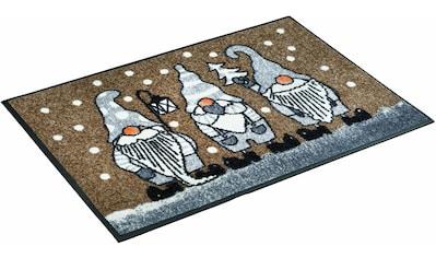 wash+dry by Kleen-Tex Fußmatte »Winterzwerge«, rechteckig, 7 mm Höhe,... kaufen