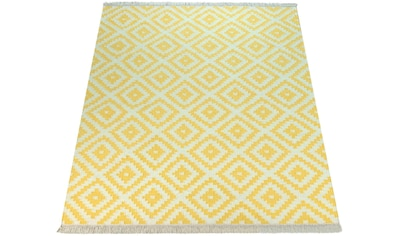 Paco Home Teppich »Kenitra 500«, rechteckig, 13 mm Höhe, handgefertigt, mit Fransen,... kaufen