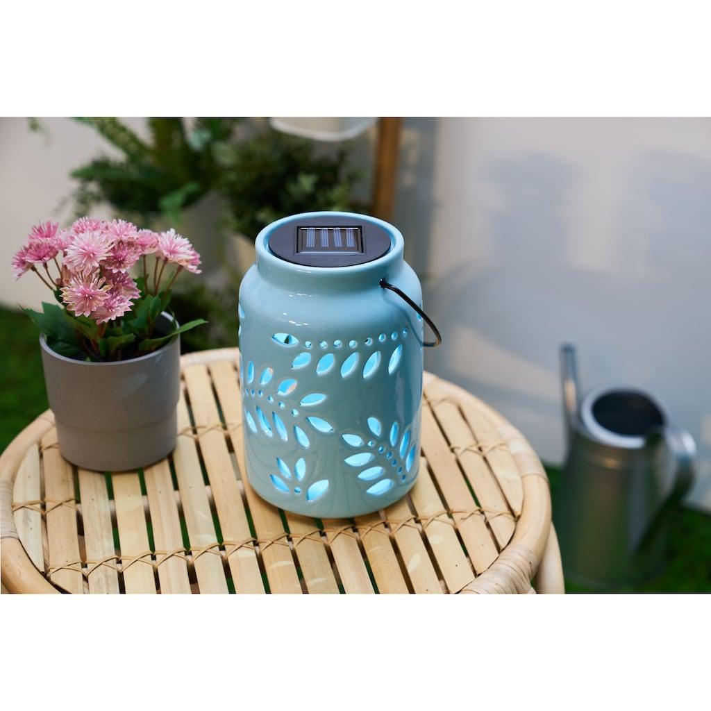 Pauleen LED Laterne »Sunshine Leaf«, 1 St., Mint/Keramik, Solarbetrieben