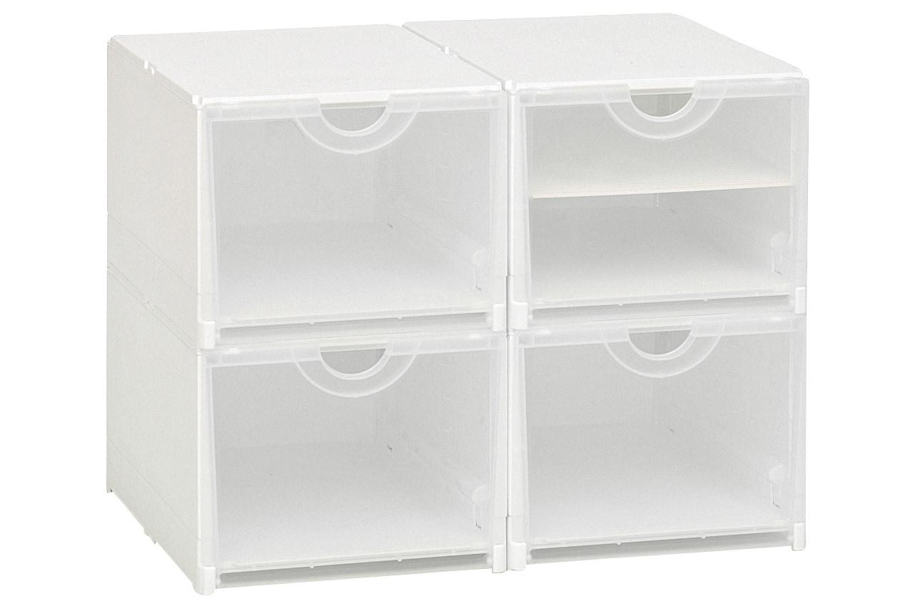 Heine Home Schuhboxen, 4er- oder 6er Set weiß Körbe Boxen Regal- Ordnungssysteme Küche Ordnung Aufbewahrungssysteme