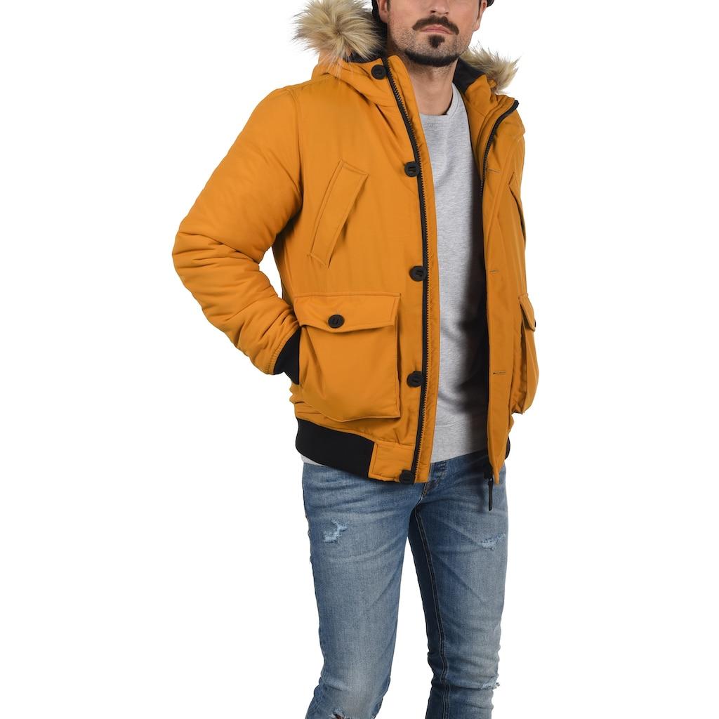 Solid Winterjacke »Frio«, Winterjacke mit Kapuze und abnehmbarem Kunstell