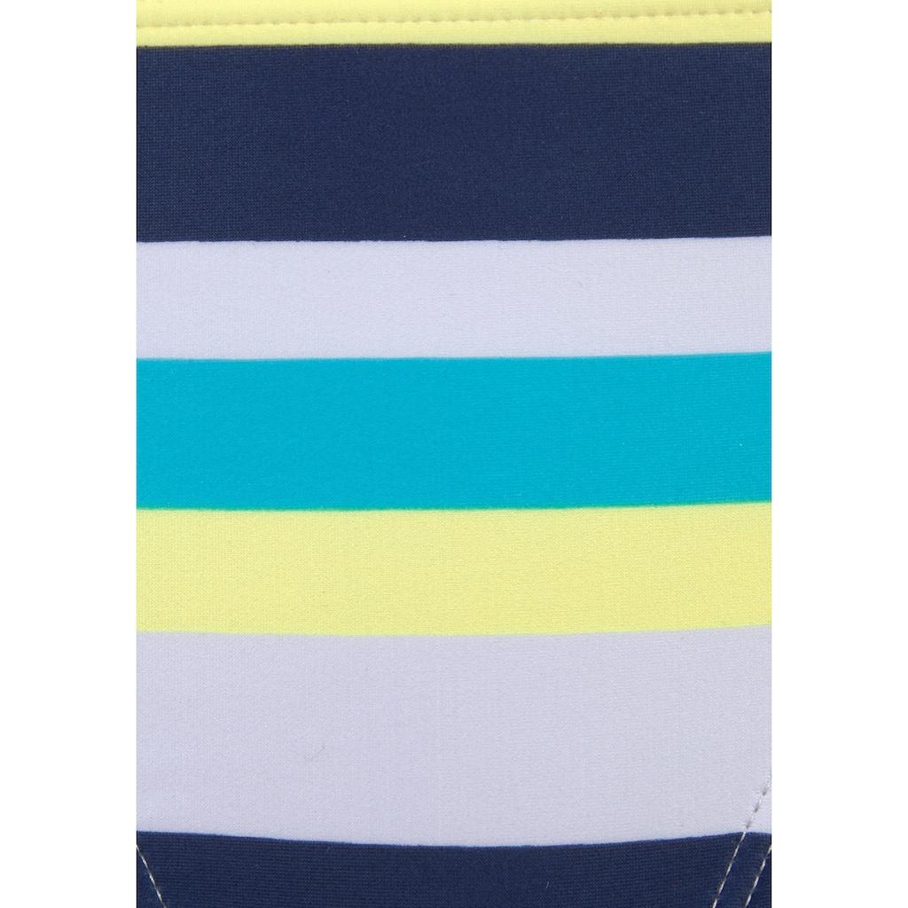 Venice Beach Bandeau-Bikini, mit Streifen