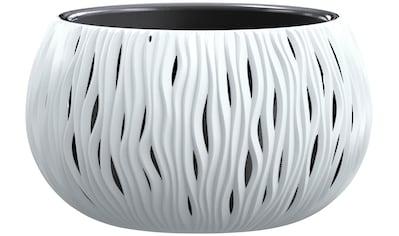 PROSPERPLAST Blumenkübel »Sandy Bowl«, weiss, ØxH: 37x21 cm kaufen