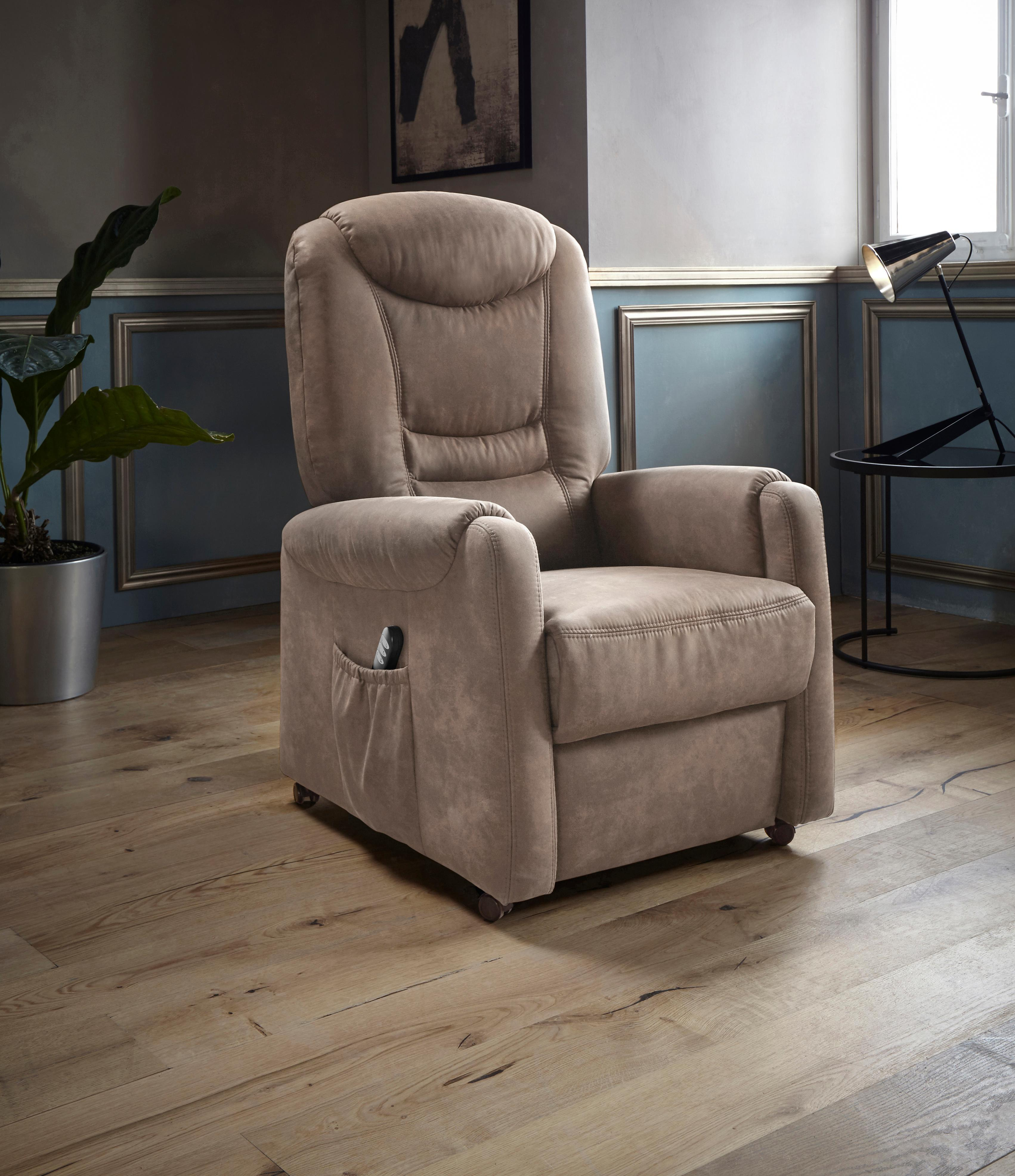 Places of Style TV-Sessel Tamworth in Größe S wahlweise mit Motor und Aufstehhilfe