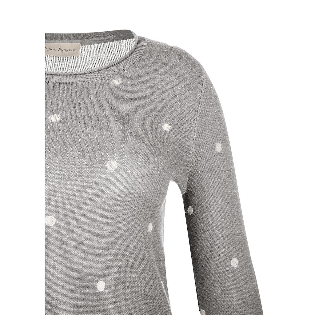 VIA APPIA Süßer Pullover mit Pünktchen-Muster Plus Size