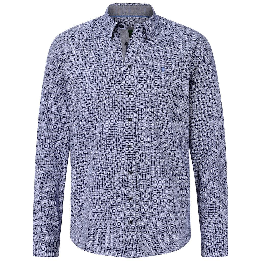 Charles Colby Langarmhemd »DUKE ELTON«, Baumwollhemd mit All Over Print