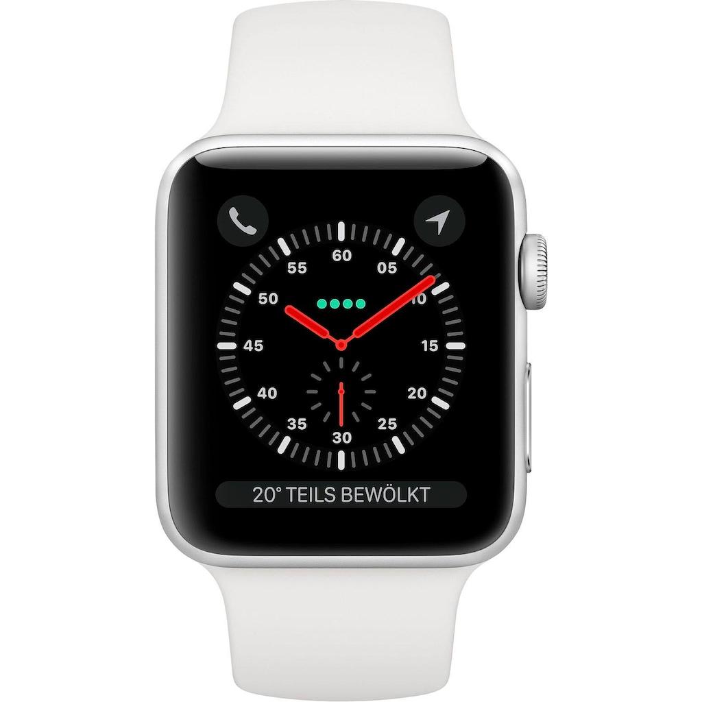 Apple Series 3 GPS + Cellular, Aluminiumgehäuse mit Sportarmband 38mm Watch (Watch OS 5)