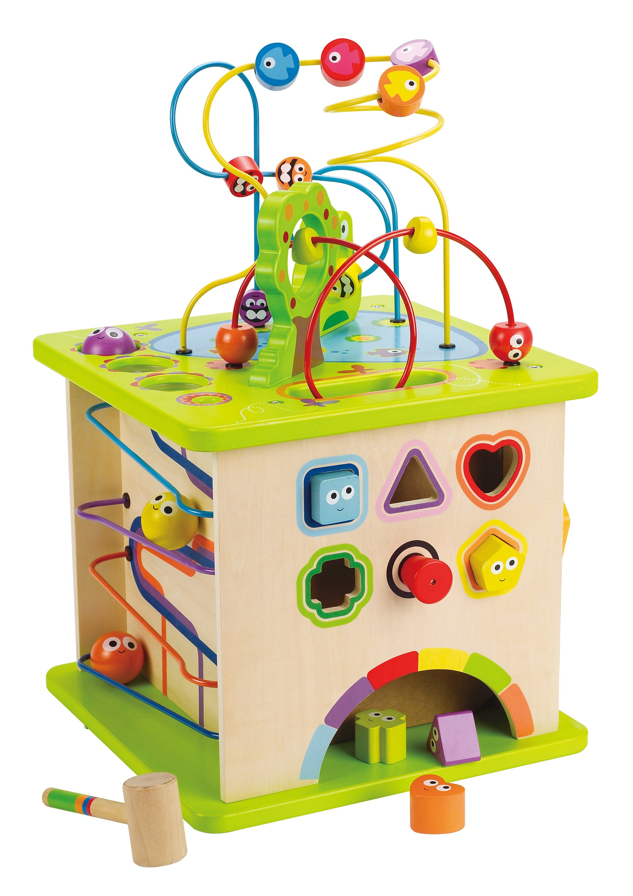 Hape Motorikwürfel Kleine Tierchen bunt Kinder Holzspielzeug