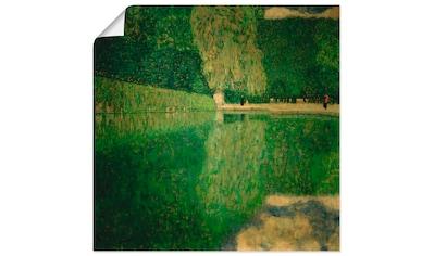 Artland Wandbild »Schönbrunner Park (Schönbrunner Landschaft)«, Wiesen & Bäume, (1... kaufen