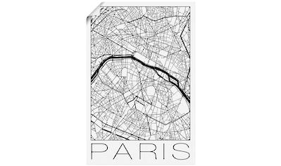 Artland Wandbild »Retro Karte Paris Frankreich« kaufen