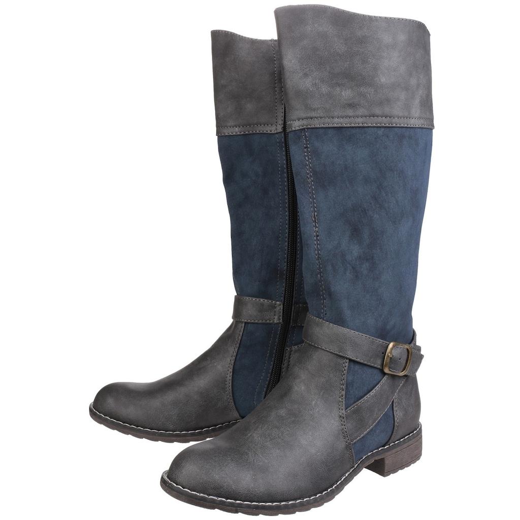 Divaz Stiefel »Damen Garbo mit Reißverschluss und Kontrast-Details«